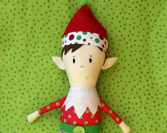 Doll Pattern - Christmas Elf Boy Doll PDF Sewing Pattern