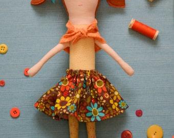 Doll Pattern - Penny Doll PDF Sewing Pattern