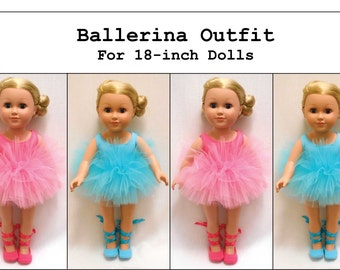 PDF Pattern: Ballerina Outfit for 18-inch Doll like American Girl®