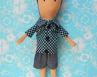 Doll Pattern - Charlie Boy Cloth Doll PDF Sewing Pattern