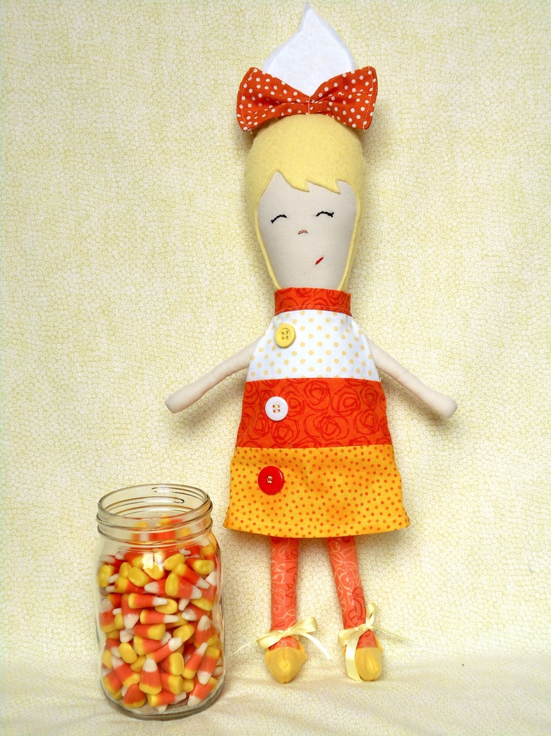 Doll Pattern  Cornelia Candy Corn Doll PDF Sewing Pattern image 0