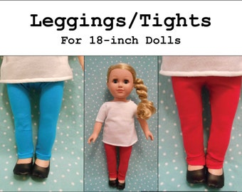 PDF Pattern: Leggings/Tights for 18-inch Doll like American Girl®