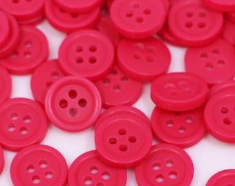 Extra Small Pink Shank Button Shiny Mini Tiny Bean Shape Shirt Blouse 10mm 20pcs