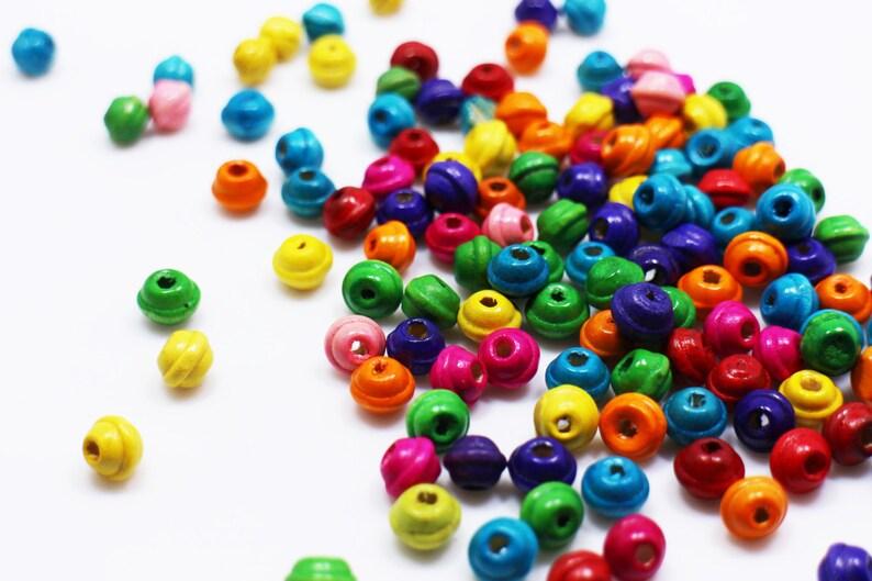20 Perles rondes 8mm style BONBON en résine Mix de couleurs
