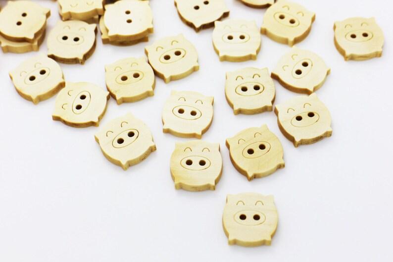 ef83d84b36dff1 Przycisk drewniany wieprzowy guziki drewniane przycisk | Etsy
