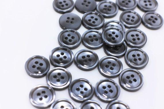 álbumes de recortes, dos agujeros 6 Botones de Madera Azul Brillante Ideal para coser 30 mm