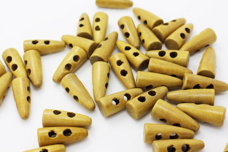 Light Brown Wooden Toggle Button Children Baby Duffle Duffel Coat 23mm 10pcs