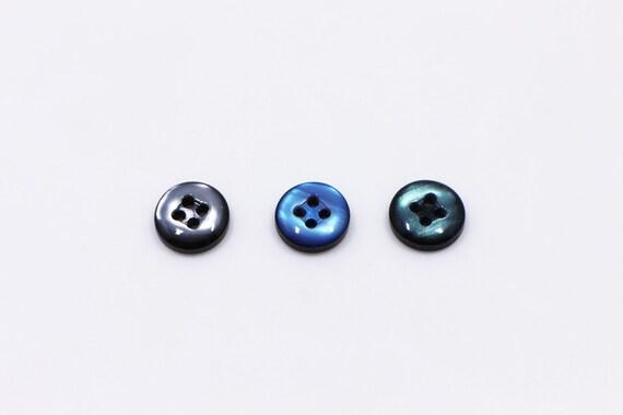 Small Green Shank Wood Button Mini Mushroom Shaped Back Hole Eyes 15mm 20pcs