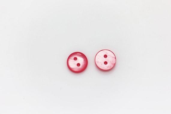 Cœur Rose tige Bouton Coeur-Forme Enfants Bébé Chemisier bouton 12 mm 20pcs