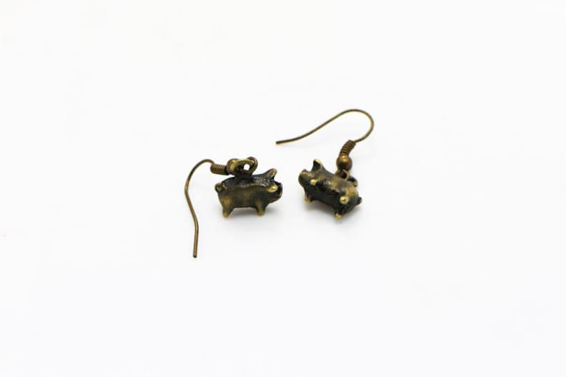 Animal Pendant Necklace Children Woman,3D Miniature Pigs Antique Bronze Charm,Jewelries Set Tiny Pig Necklace Mini Pig Dangling Earrings