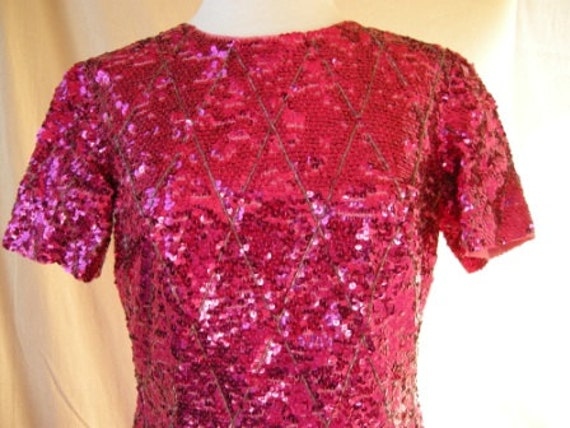 Stunning Vintage Sequin Sheath Dress