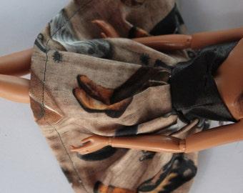 Cowboy dress for 11.5 inch dolls (84)