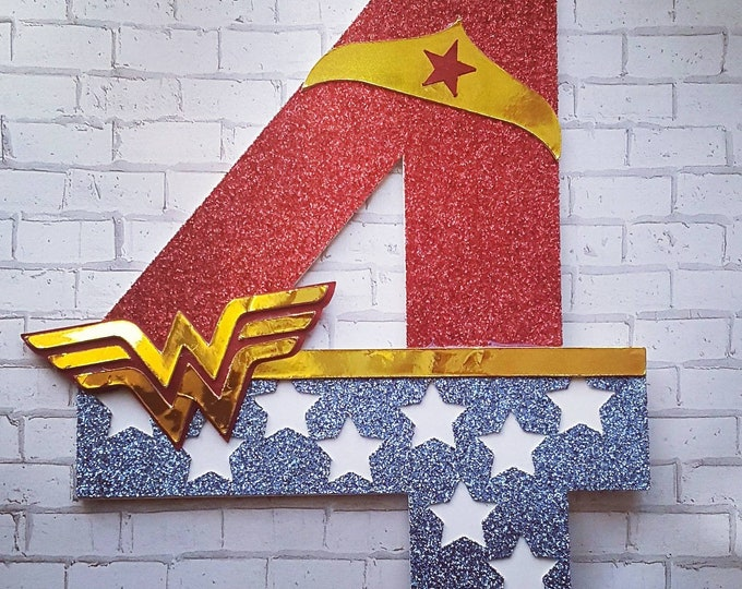 Featured listing image: Wonder Woman inspired Cake Topper