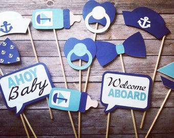 Nautical Babyshower Photobooth props