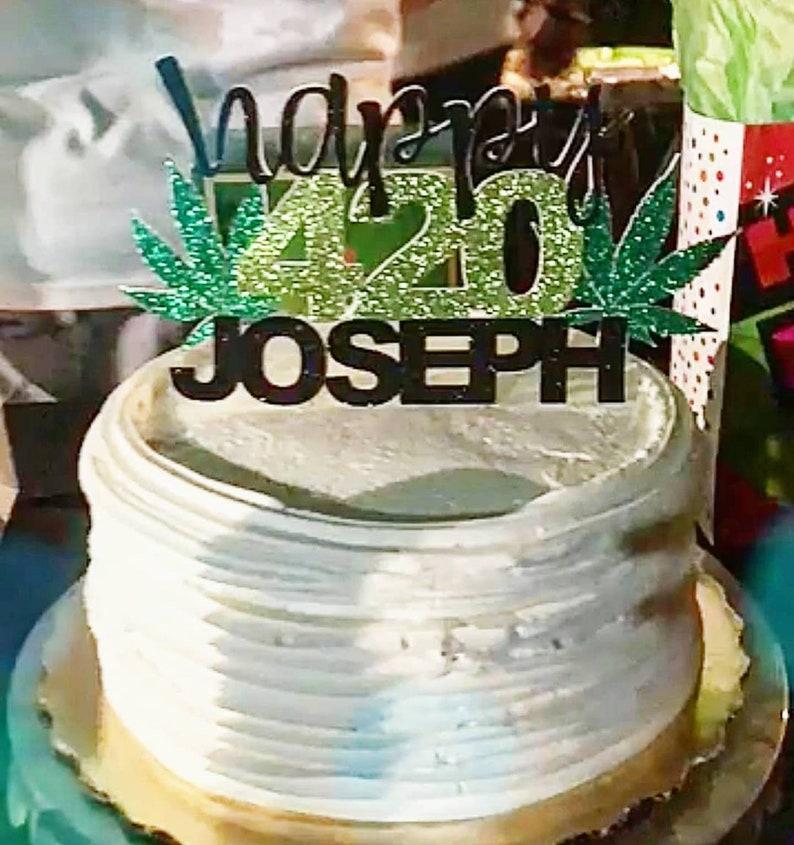 420 Cake Topper