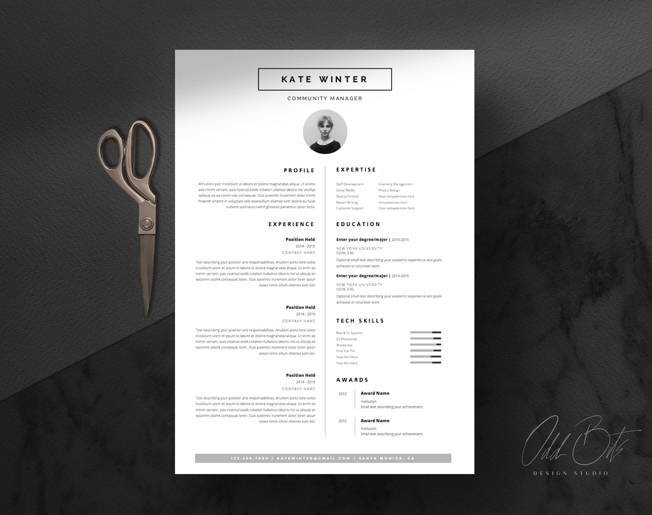Free-Minimalist-Resume-Cover-Letter-Template Topmost Design Popular