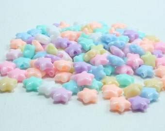Pack of 400-4mm beads Assorted Cotton Candy Color Crackle Czech Glass Beads