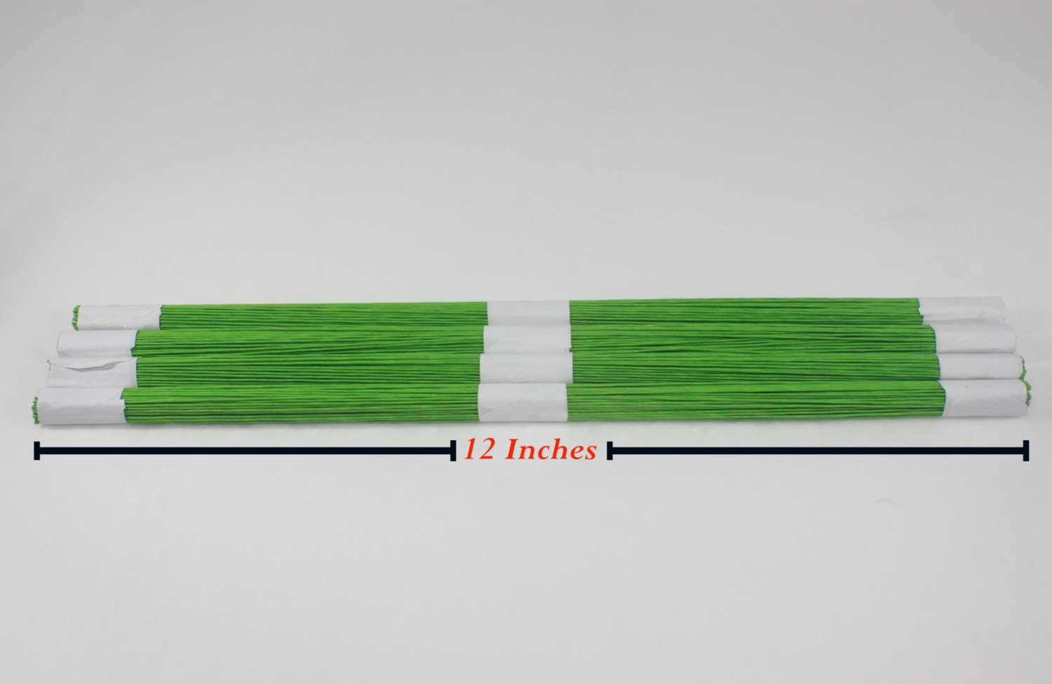 100 lines light Green Floral wire flower stem Artificial Length 12 ...