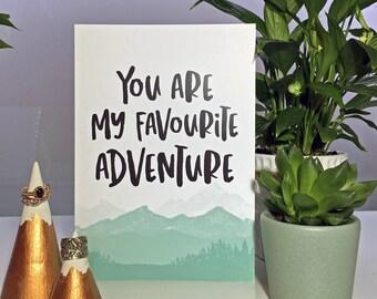 Your My Favourite Adventure - Valentine's Card