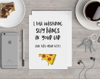 Order Pizza - Valentine's Card