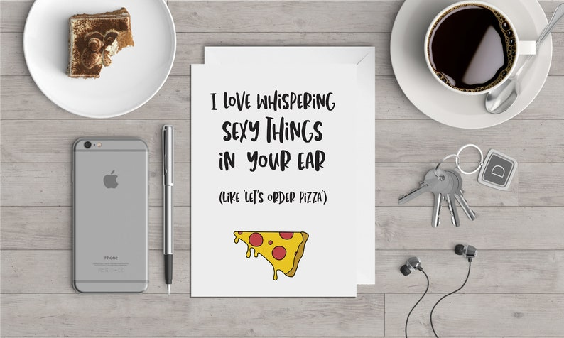 Order Pizza  Valentine's Card image 0