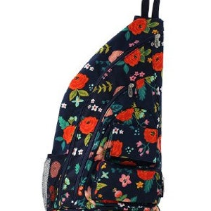 Canvas Southern Rooster Sling Backpack with free monogram