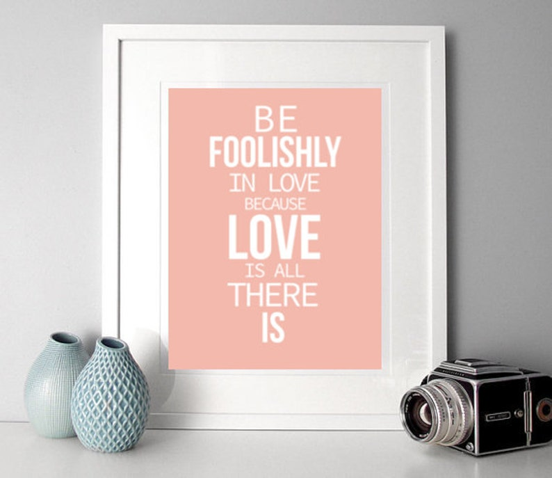 Love Typographic Print Motivational Quote Rumi Quote Print Etsy