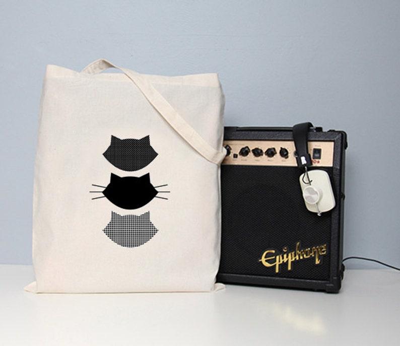 Cat tote bag tote bag cat book bag school bag totes  9337c97bdb2b2
