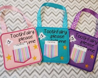 Tooth Fairy,  Tooth fairy pillow alternative, tooth fairy please stop here, custom name tooth fairy door hanger