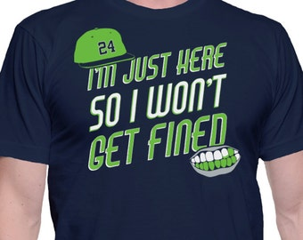 I'm Just Here So I Won't Get Fined - A Saying T-Shirt