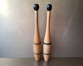 Juggling clubs. Solid wood indian juggling pins. Circus Juggling Weights.
