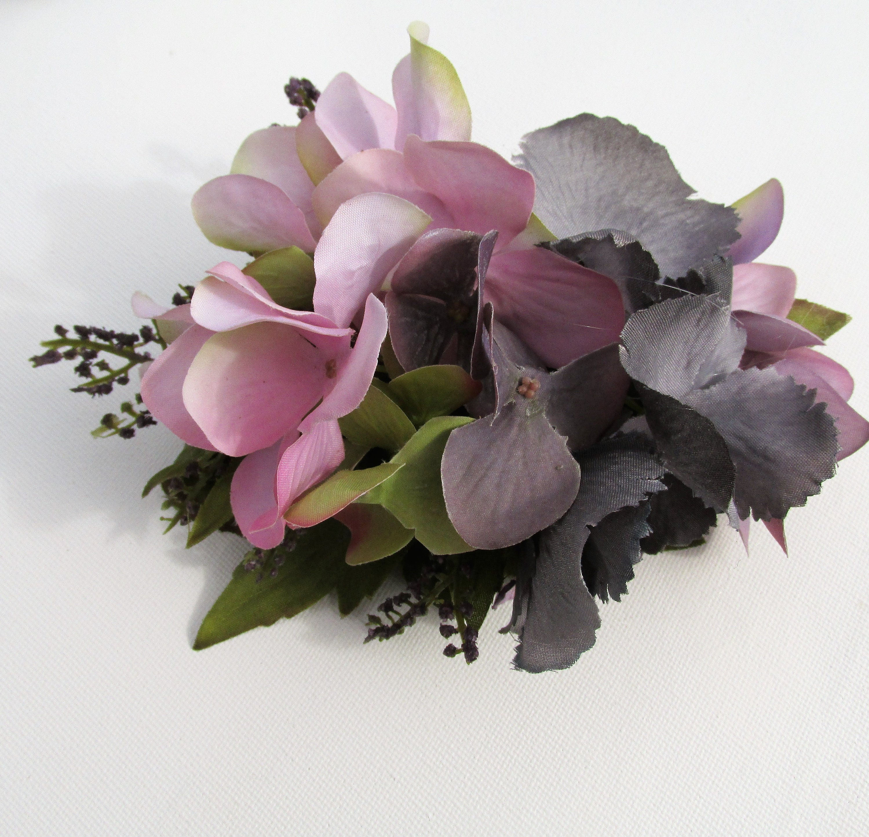 Wedding fascinator hydrangea headpiece dusky pink purple grey wedding fascinator hydrangea headpiece dusky pink purple grey bridal flowers grey fascinator mother of the bride bridesmaid flowers mightylinksfo