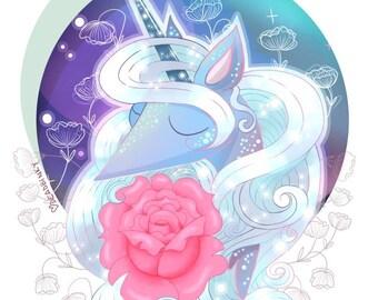 Galactic Unicorn Print