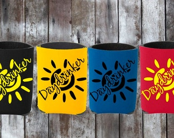 Funny Daydrinker Can Coolie//Day Drinking Cooler//Daydrinker Can Cozy//Summer Can Cooler//Vacation Beer Cozy//Beer Drinking//Drinking Game