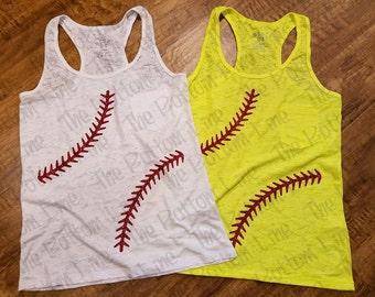 Baseball Tank~Softball Tank~Baseball Mom Tank~Softball Mom Tank~Baseball Glitter Stitches~Softball Glitter Stitches~Baseball~Softball~Sports