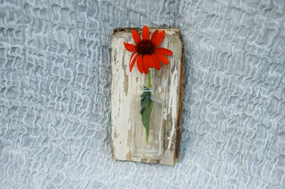 Applique murale shabby chic vase mural urban ou country etsy