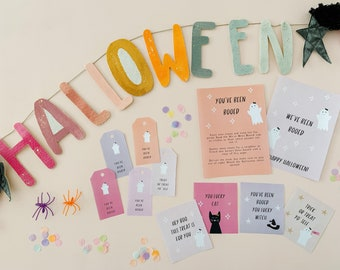 You've been Booed Printable Halloween Game, We've Been Booed Sign, Halloween Activity for kids