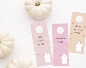 "Printable Halloween Wine Tags & Printable Halloween Gift Tags ""You've been Boozed"". Halloween gift for neighbors and friends."