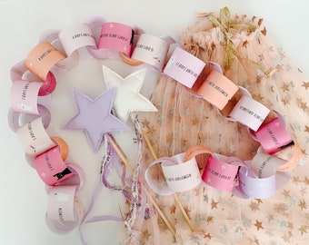 Halloween Countdown Calendar for kids - Printable Halloween Advent Paper Chain