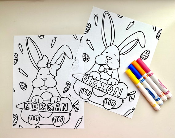 Custom Easter Coloring Pages Digital Download Coloring Pages