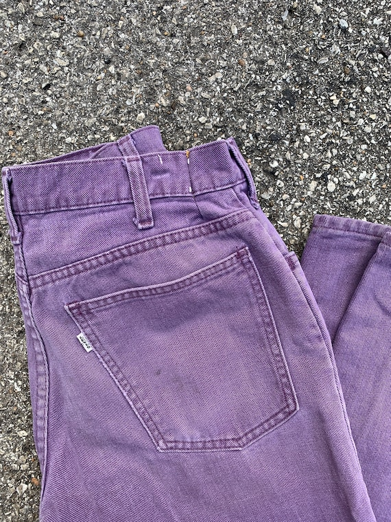 Vintage Levis Size 28 Bell Bottoms Purple Denim Wh