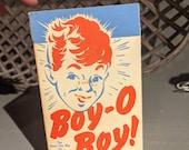 Small Vintage 1930 39 s Boy O Boy Pop Corn Box- Old - Original Queen City Cincinnati, Ohio
