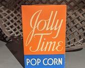 Large Vintage 1939 Jolly Time Pop Corn Box- Old - Original American Pop Corn Sioux City, IA