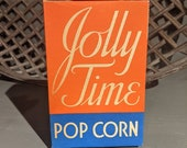 Small Vintage 1939 Jolly Time Pop Corn Box- Old - Original American Pop Corn Sioux City, IA