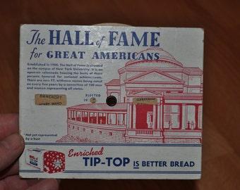 "1948 Ward's Tip Top Bread ""Hall of Fame"" Advertising Premium - Original & Vintage"