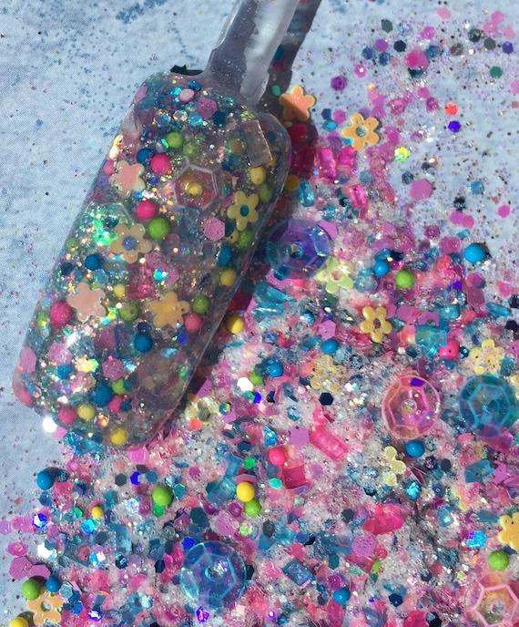 Nail Art Acrylic Gel Glitter Mix Girl Next Door Limited