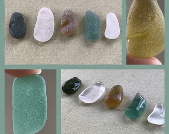 5 Thick Chunky Sea Glass Pieces From Scotland - Scottish Beach Seaglass