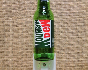 Mountain Dew 12oz. Glass Bottle Night Light