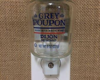 Grey Poupon 8oz. Glass Bottle Night Light
