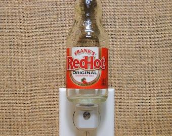 Frank's Red Hot Sauce 5oz. Glass Bottle Night Light